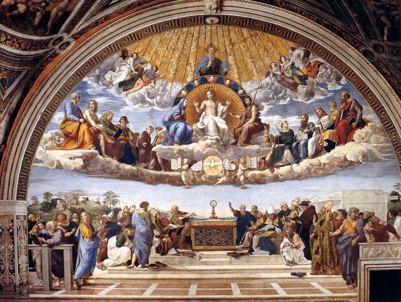 Rasprava o svetim sakramentima (Rafaelo, Sikstinska kapela u Rimu)